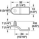 Häfele Rückwandverbinder Rückwandhalter Ixconnect RPC D 5/24