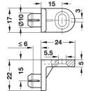 Häfele Rückwandverbinder Rückwandhalter zum Einclipsen der Rückwand 24 mm Kunststoff weiss