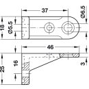 Häfele Rückwandverbinder Rückwandhalter zum Schrauben 46x16mm Kunststoff weiss