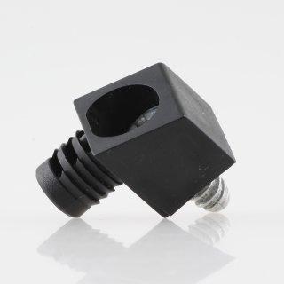 Häfele Korpusverbinder Wandverbinder mit Schraube 14x16mm Kunststoff schwarz