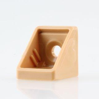 Häfele Eckverbinder Wandverbinder mit Abdeckkappe 18x20mm Kunststoff beige