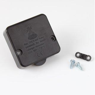 Interbär Einbau-Truhentaster schwarz 230V/2A(1A) 50x50 mm