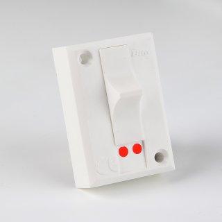 Schwachstrom-Umschalter weiß 50x34mm für AP Montage