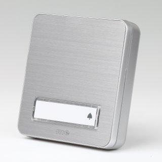 Klingeltaster Klingelplatte KTA-1 AS 1-fach silber Aluminium gebürstet für AP-Montage