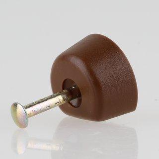 Häfele Bodenträger H3111 für Holz oder Glas KU braun zum Einschlagen (20 Stück)