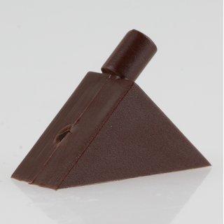Häfele Bodenträger H3141 für Holz oder Glas KU braun zum Einstecken in 5mm Bohrloch (20 Stück)