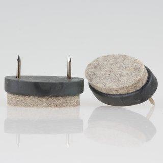 Filzgleiter grau 40x25 mm mit Nagel zum Einschlagen