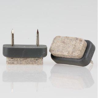 Filzgleiter grau 30x18 mm mit Nagel zum Einschlagen