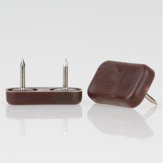 Möbelgleiter 30x18 mm Kunststoff braun mit Nagel zum Einschlagen