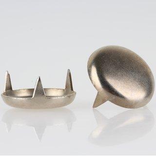 Möbelgleiter 24mm Metall vernickelt mit 3 Zacken