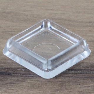 Möbeluntersetzer eckig 30/40mm transparent
