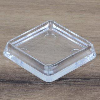 Möbeluntersetzer eckig 40/50mm transparent