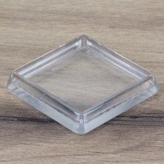 Möbeluntersetzer eckig 50/60mm transparent
