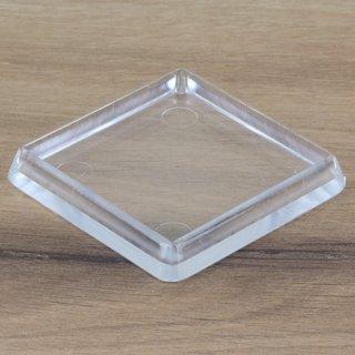 Möbeluntersetzer eckig 60/70mm transparent