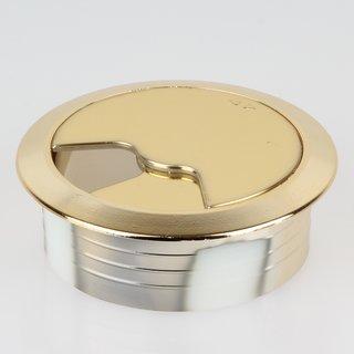Häfele Kabeldurchführung Kabeldurchlass rund 60mm Kunststoff gold