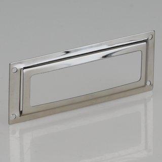 Häfele Etikettenrahmen 65x24mm vernickelt Lochabstand 60x18mm