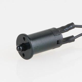 Häfele Türkontaktschalter mit Zuleitung schwarz Bohrloch 12mm 12-24V