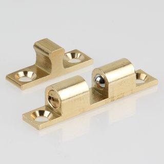 Häfele Ideal-Schnäpper Doppel-Kugelschnäpper Messing 43mm zum Schrauben