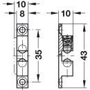 Häfele Ideal-Schnäpper Doppel-Kugelschnäpper Chrom 43mm zum Schrauben