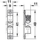 Häfele Ideal-Schnäpper Doppel-Kugelschnäpper Chrom 49mm zum Schrauben