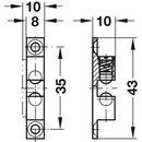 Häfele Ideal-Schnäpper Doppel-Kugelschnäpper Nickel matt 43mm zum Schrauben
