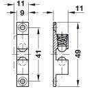 Häfele Ideal-Schnäpper Doppel-Kugelschnäpper Nickel matt 50mm zum Schrauben