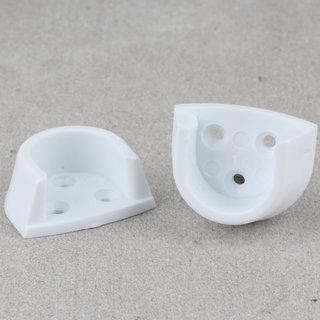 Häfele Schrankrohrlager für Schrankrohr rund 20mm Kunststoff weiß