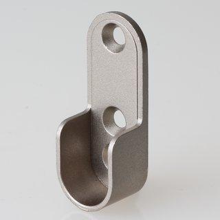 Häfele Schrankrohrlager für Schrankrohr oval 30x15mm mit 3 Schraublöcher titangrau