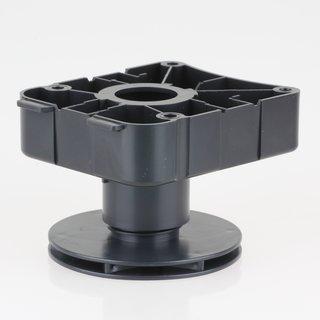 Häfele Möbel Sockelverstellfuß zum Schrauben 50-78mm Kunststoff schwarz