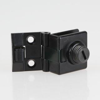 Häfele Scharnier 170° für Glas-/Holzkonstruktionen schwarz