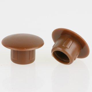 Häfele Möbel Abdeckkappe 8mm zum Eindrücken Kunststoff braun