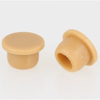 Häfele Möbel Abdeckkappe 6mm zum Eindrücken Kunststoff buchefarben