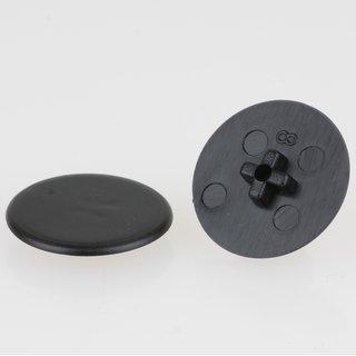 Häfele Minifix 15 Möbel Abdeckkappe ohne Abdeckrand 17mm schwarz