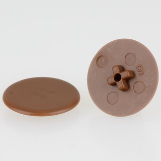 Häfele Minifix 15 Möbel Abdeckkappe ohne Abdeckrand 17mm braun