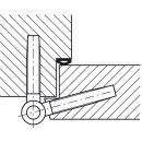Häfele Startec Einbohrband aus Stahl verzinkt für gefältzte Innentüren bis 100kg