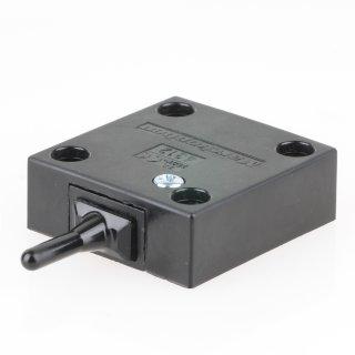 Häfele Türkontaktschalter mit langem Tastschalter 230V/2A schwarz