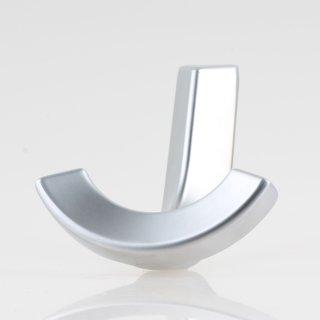 Häfele Möbel Garderobenhaken aus Metall 73x65mm mit 2 Haken verchromt matt